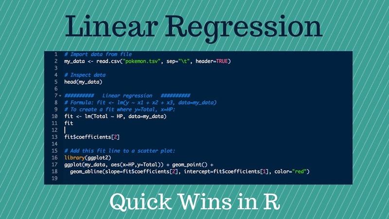 Quick Wins in R 3 Linear Regression