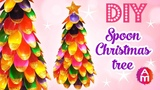 DIY christmas tree with plastic spoon | DIY Tabletop Christmas Tree | DIY christmas crafts 2017