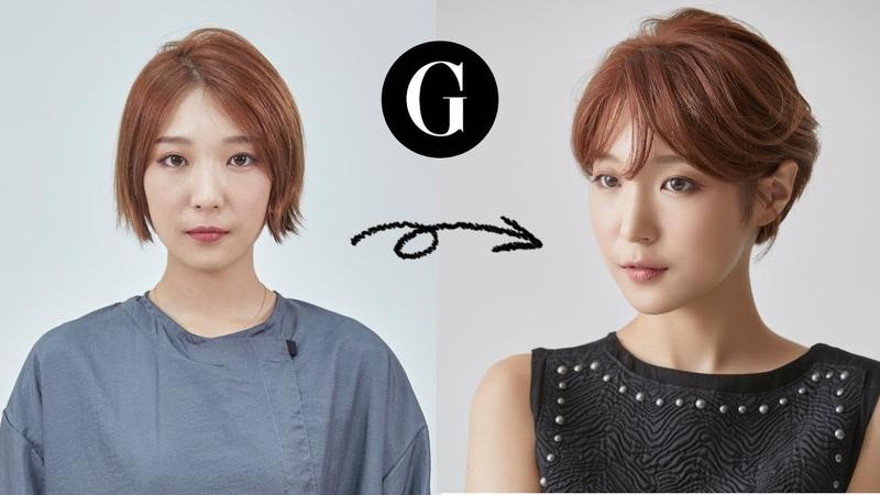 [그라피TV] 덥수룩한 단발 예쁘게 기를 수 있는 커트 스타일(김상희) Asian(korean) haircut womans shortc