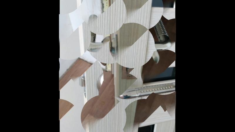 установка защелки на дверь