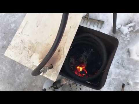 Бесплатное топливо Горение водяного газа 4 часть