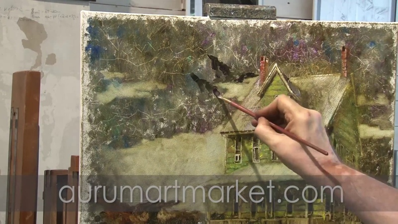 Рисуем Домик у горного озера