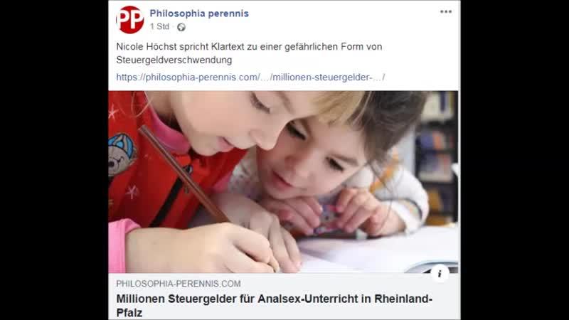 SCHULE UND BILDUNG,Millionen Steuergelder für Analsex-Unterricht in Rheinland-Pfalz.Von PP-Redaktion -7. Dezember 2018.
