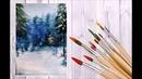 Как нарисовать зимний лес акварелью ❄️ art make уроки рисования