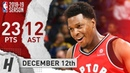 Kyle Lowry OUTPLAYS the Warriors, Full Highlights 2018.12.12 - 23 Points, 12 Assists