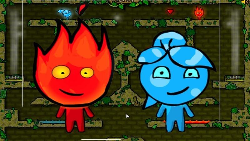 Приключение Огонь и Вода в Лесном Храме 1 Мультик игра для детей. Games for kids.