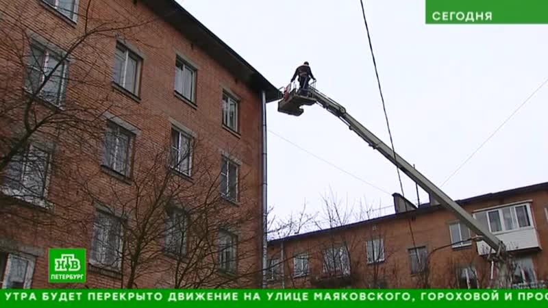 Тазики, ванночки и натяжные потолки: как петербуржцы борются с зимними протечками