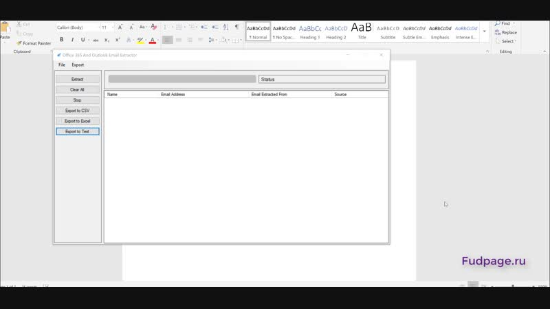 Office Outlook_Extractor