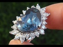GIA Certified UNHEATED VS2 Natural Blue Sapphire Diamond PLATINUM Engagement Ring GEM - A131428