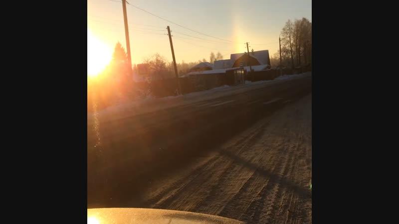 Добавляю видео зимней радуги...