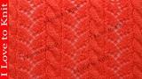 Вязание спицами со схемой и описанием Коса с ажуром
