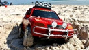 Мультики про машинки на пляже. Песочница для малышей. Красный джип