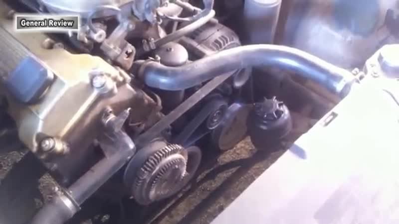 Замена ремня ГУР двигателя BMW m43