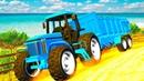 Трактора помогают коровам найти дорогу Цветные Машинки Перец Детское ТВ