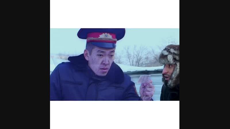 Гаишник замёрз
