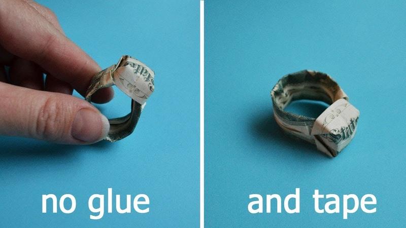 Big Money RING Signet | Origami Dollar Jewelry | Tutorial DIY