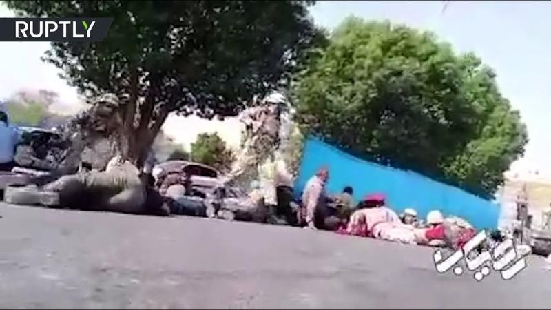 Стрельба во время парада в Иране попала на видео
