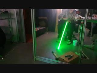 В процессе изготовления светового меча