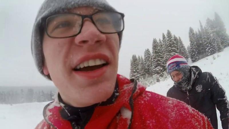 VLOG: Зимние покатушки. Чуть не убился на скорости