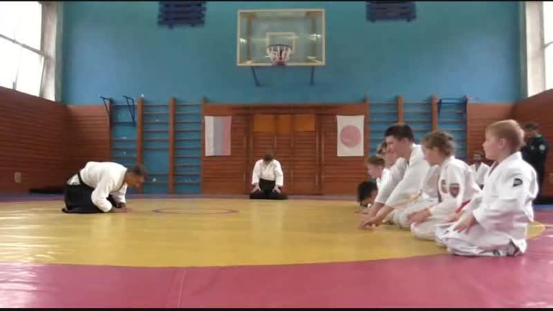 Детская тренировка в рамках семинара Fiordineve Cozzi сенсея 6 й Дан Италия в Санкт Петербурге 20 октября 2018г