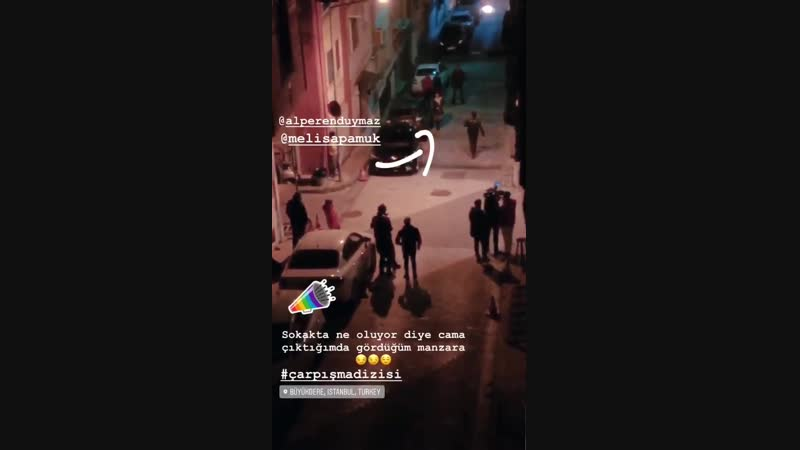 Альперен и Мелиса за кадром с фанами ФК Сарыер