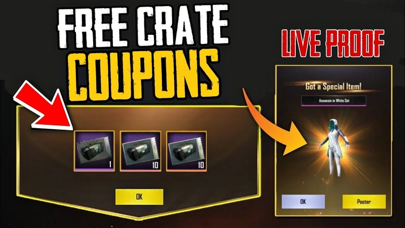 How To Get FREE Crate Coupons in PUBG MOBILE 100% Working Live Proof