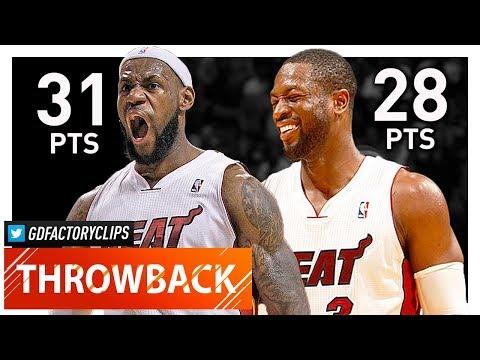 Throwback LeBron James Dwyane Wade Full Highlights vs Knicks 2012 01 27 CRAZY DUNK SHOW