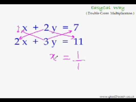 EasyCal 17 - Simultaneous Eqns 2 - Faster Way to Solve Simultaneous Eqns