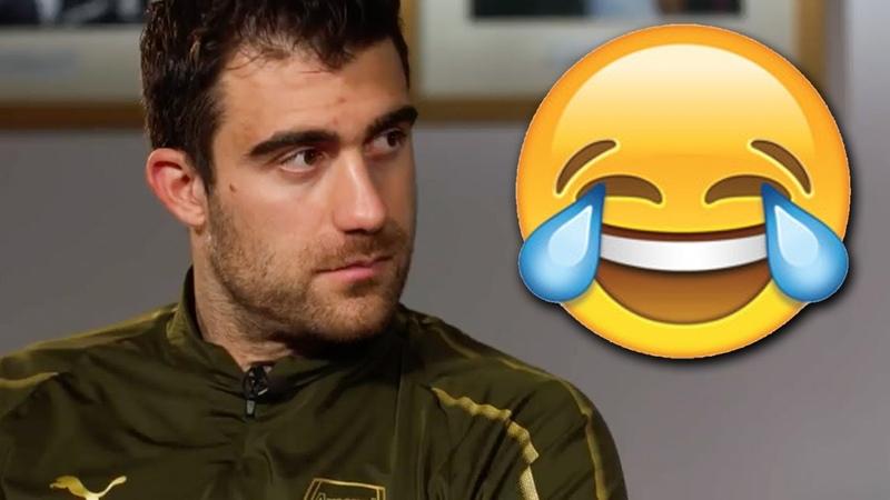 😂CHALLENGE   Can Denis Suarez make Sokratis Papastathopoulos laugh