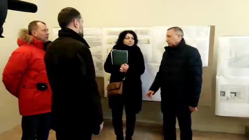 Во время рабочей поездки в Красногвардейский район врио губернатора Петербурга посетил новую школу.