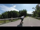 Womens Downhill Longboarding at Full Speed Red Bull No Paws Down