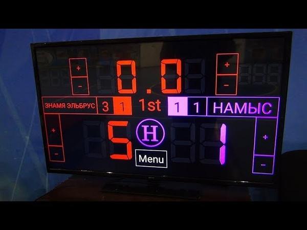 Чемпионат КБР по мини-футболу 201819. ПД. 1 тур. Знамя Эльбруса - Намыс. 1 тайм
