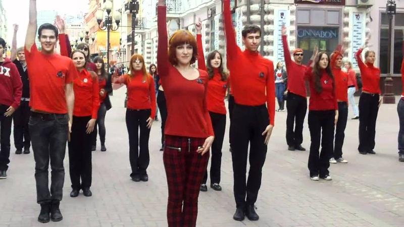 Mylene Farmer flashmob in Moscow 13.05.2012 - 2