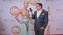 Laura X Desiree of Naken News is interviewed on the red carpet at the 2019 Xbiz Awards