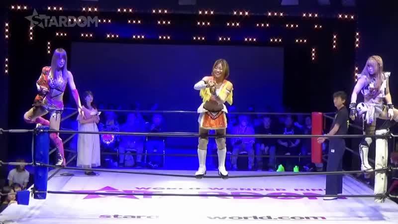Arisa Hoshiki Saki Kashima Tam Nakano vs Queen's Quest AZM Konami Momo Watanabe