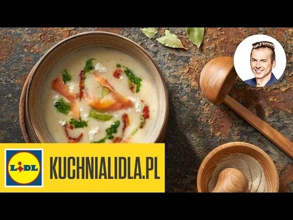🍲 Zupa z porów z wędzonym łososiem - Karol Okrasa - Przepisy Kuchni Lidla