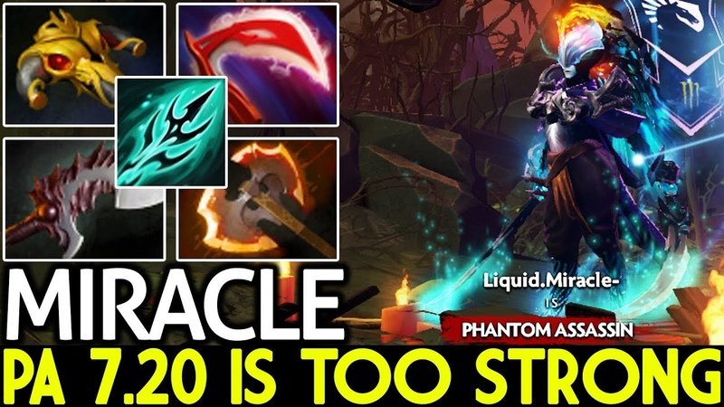 Miracle- [Phantom Assassin] PA 7.20 is Too Strong Pro Gameplay Dota 2