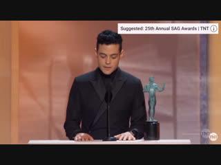 Речь рами малека на вручении награды sag awards