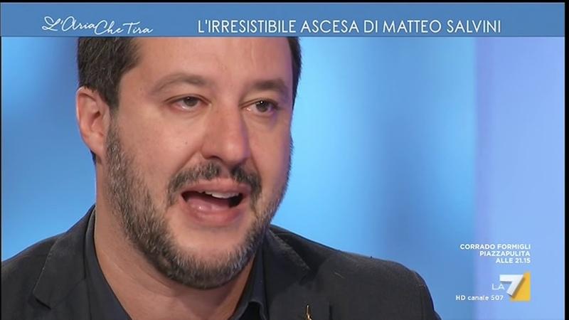 MATTEO SALVINI SU L'ARIA CHE TIRA (LA7, 29.11.2018)