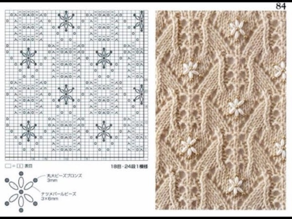 Шикарные схемы узоров для спиц С 81 по 90 Книга 260 узоров Хитоми Шида