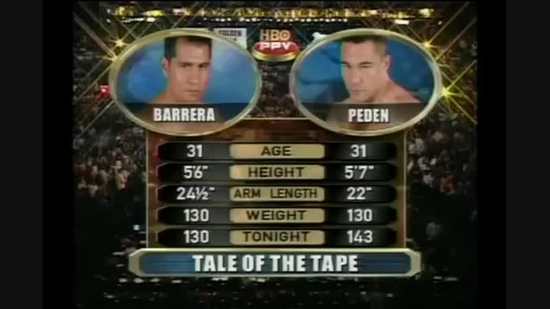 Марко Антонио Баррера vs Робби Педен полный бой 17 09 2005