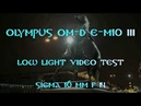 Olympus OM D E M10 III low light video test