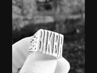 Кольцо biker из серебра 925