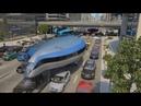 Общественный транспорт будущего. Летающий поезд.