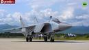 MiG 31 fighter jet flying in stratosphere