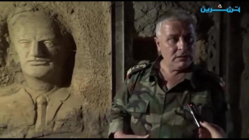 Сирийские скульпторы преобразили подземные туннели террористов в Джобаре в галерею славы и победы Сирии