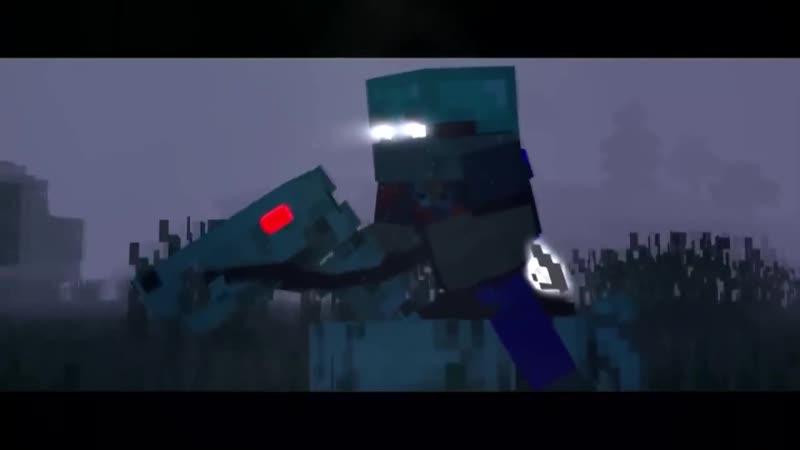ХЕРОБРИН VS ENTITY 303 - Майнкрафт Клип (На Русском) _ Herobrine Life Minecraft