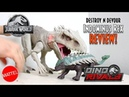 Mattel Jurassic World Destroy N Devour Indominus Rex Unboxing Review!