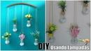 FAÇA VOCÊ MESMO Pendente de flores usando lampadas
