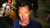 Benedict Cumberbatch on Smaug and playing a Bond-like wolf in 'Penguins of Madagascar'